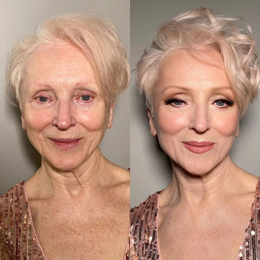 olga shatyko before after make up