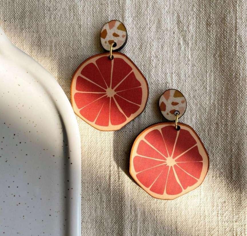 orecchini fetta di arancia