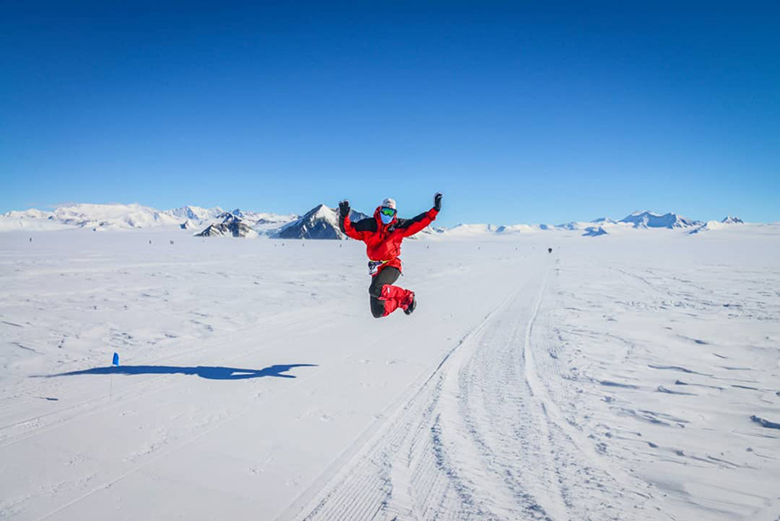 Gara sportiva nell'Antartico