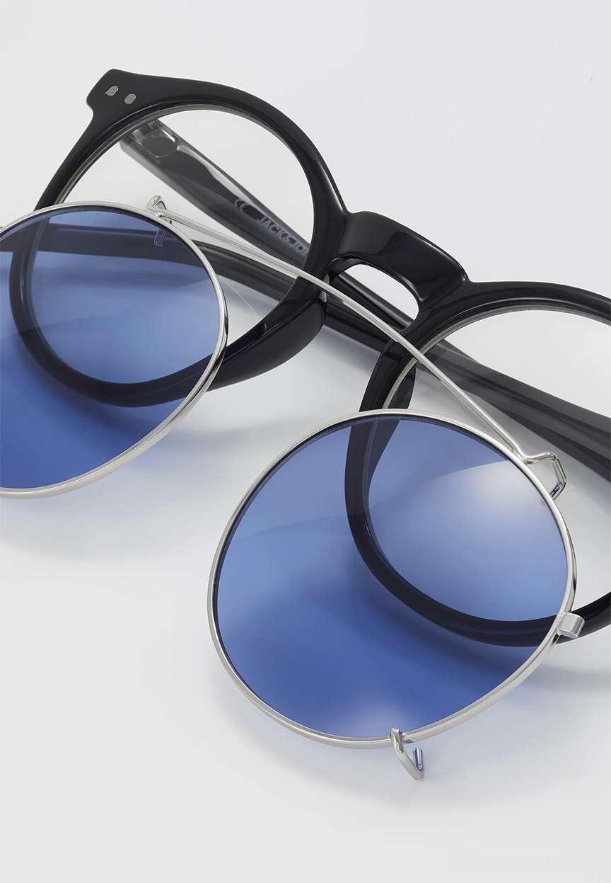 Clip occhiali lenti azzurre