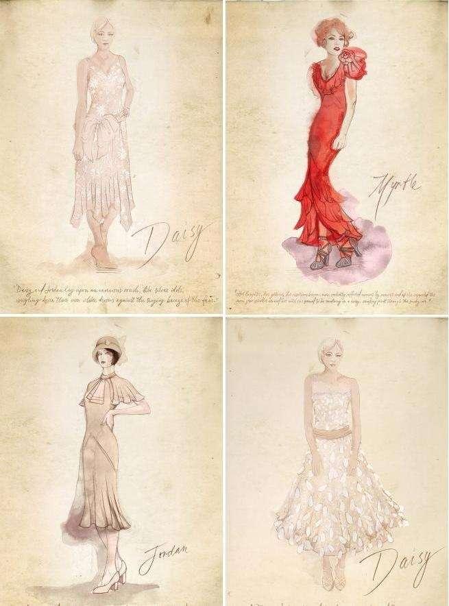 bozzetti moda delle protagoniste