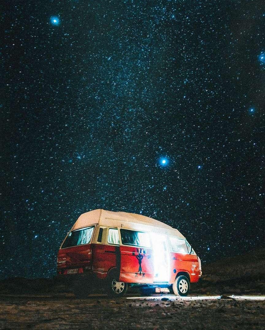 Vita da van sotto le stelle