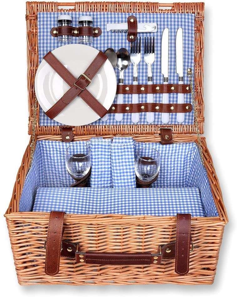 cestino in vimini per picnic