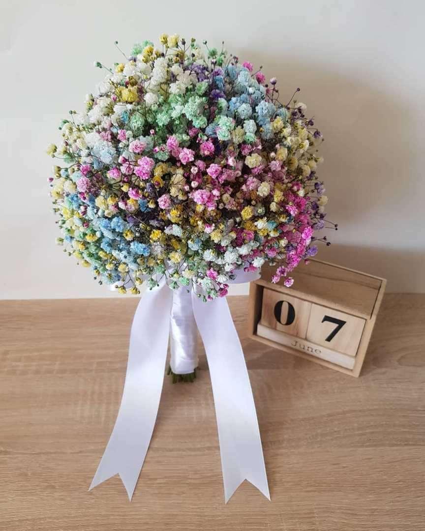 bouquet velo da sposa colorato