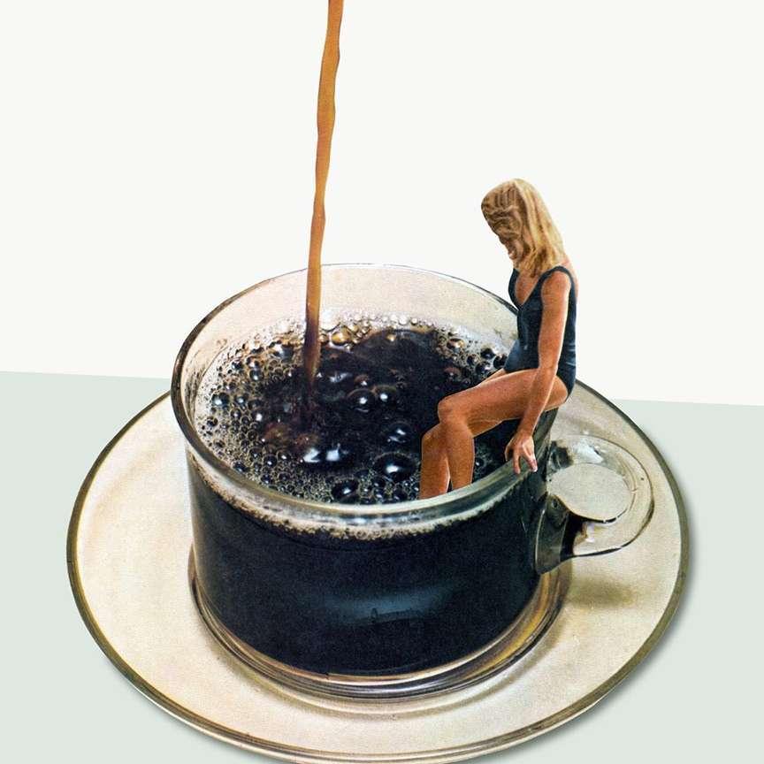 Fare il bagno nel caffè buono