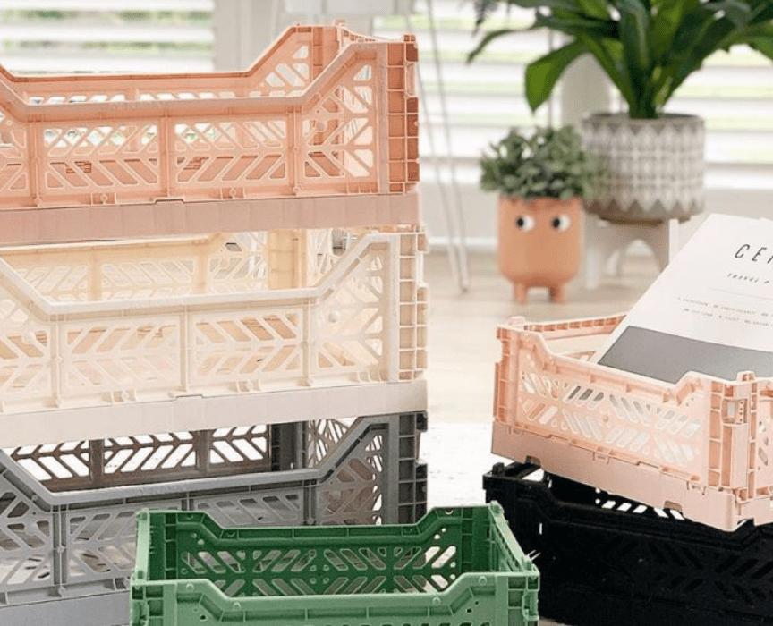 cassette di plastica per la scrivania