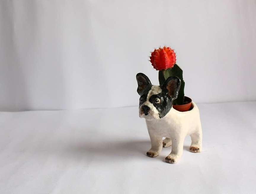 vaso a forma di cane