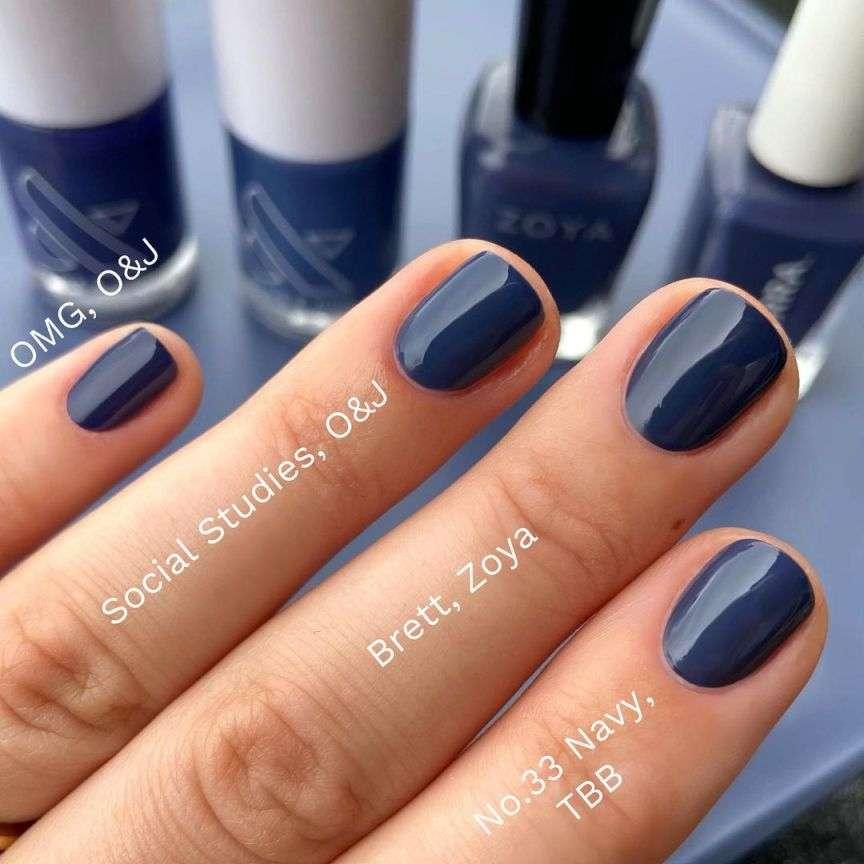 blu smalti colori autunno