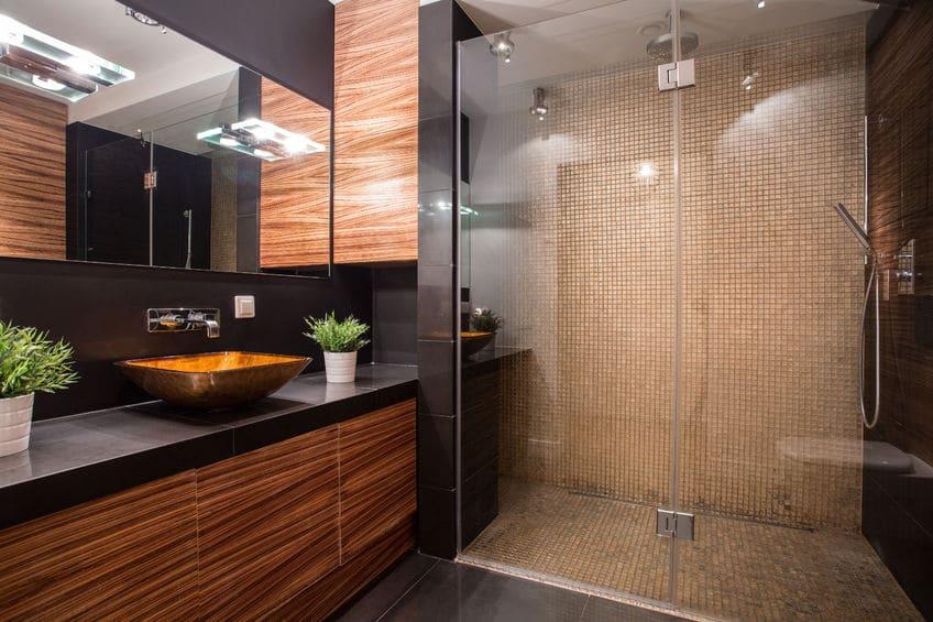 paroi de douche sur mesure design haute