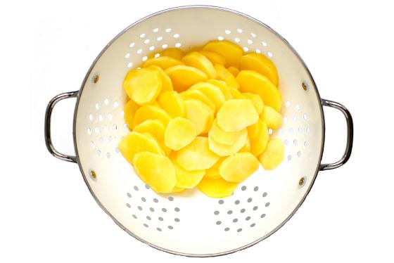 Tortilla cu cartofi si mazare