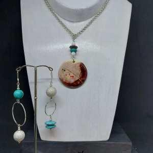 Collier  céramique turquoise