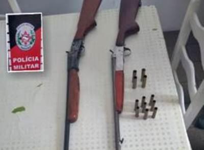 Polícia Militar apreende armas de fogo durante rondas em cidade do Cariri