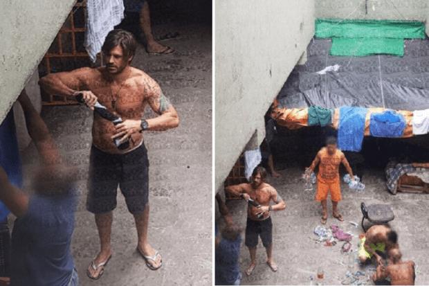 Imagens mostram ator Dado Dolabella na prisão