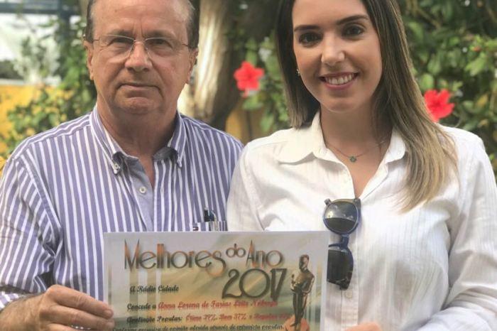Reconhecimento: Prefeita Anna Lorena está entre os melhores gestores do Cariri