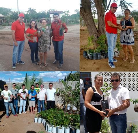 Prefeitura de Sumé e deputado Luiz Couto distribuem mudas de plantas na zona rural