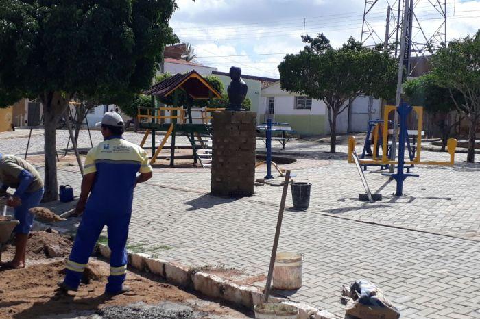 Monteiro ganha obras de pavimentação, reforço na limpeza e reposição de lâmpadas por LED