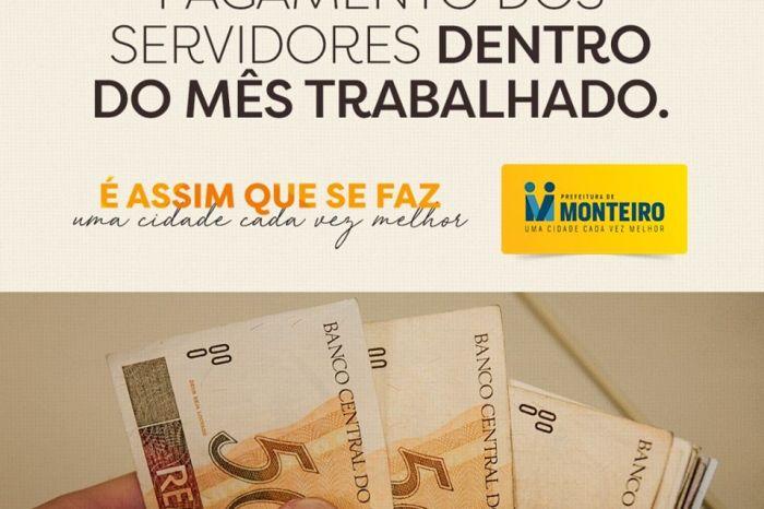 Prefeitura de Monteiro paga salários do mês de setembro nesta sexta e sábado
