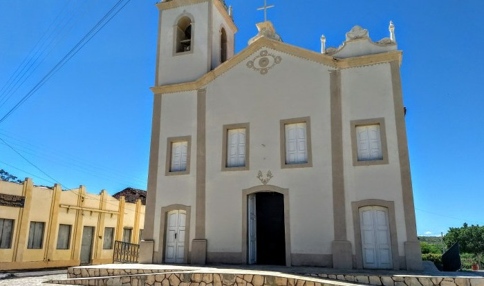 """No Cariri: Igreja do """"Auto da Compadecida"""" volta a ter fachada original"""