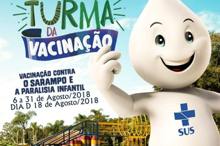Campanha de Vacinação contra Pólio e Sarampo será realizada na cidade da Prata
