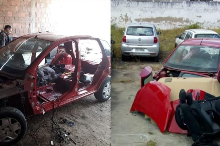 PM localiza ponto de desmanche de carros em Campina Grande