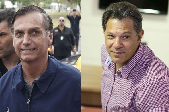 Celebridades brigam por voto entre Bolsonaro e Haddad em redes sociais