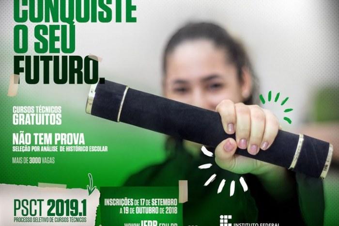Campus Monteiro do IFPB está oferecendo 120 vagas para diversos cursos