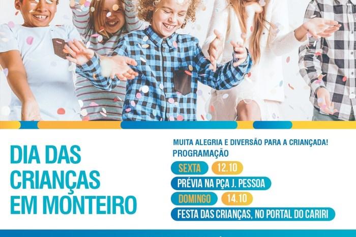 Festa do Dia das Crianças em Monteiro acontece neste fim de Semana