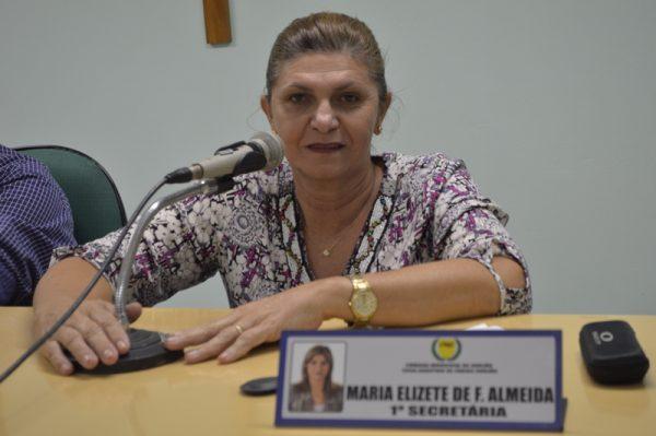 Após anulação da eleição, Elizete tomará posse como presidente da Câmara de Gurjão