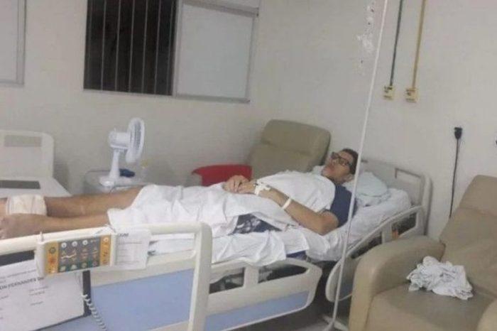 Gigante caririzeiro Ninão tem infecção no osso e pede bota ortopédica e cadeira de rodas