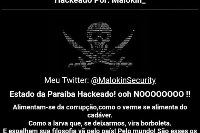 MOÍDOS DA REDAÇÃO: Hacker invade o site oficial do Governo da Paraíba