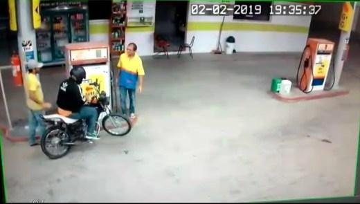 Dupla armada realiza assalto em posto de combustível no Cariri paraibano