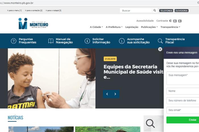 Prefeitura de Monteiro lança novo site oficial mais moderno, completoe acessível à internautas