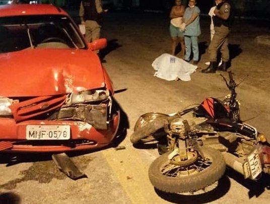 Colisão entre carro e moto causa vítima fatal no município de Sumé, no Cariri