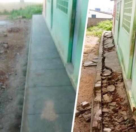 Prefeitura municipal de São José dos Cordeiros realiza melhorias na Escola Estadual da cidade