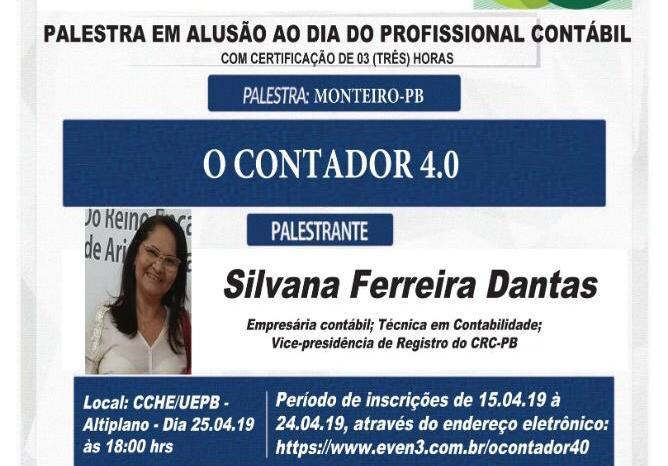 UEPB de Monteiro realiza palestra em alusão ao Dia do Profissional em Contábil