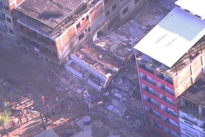 Sobe para 16 o nº de mortos em desabamento de prédios no Rio