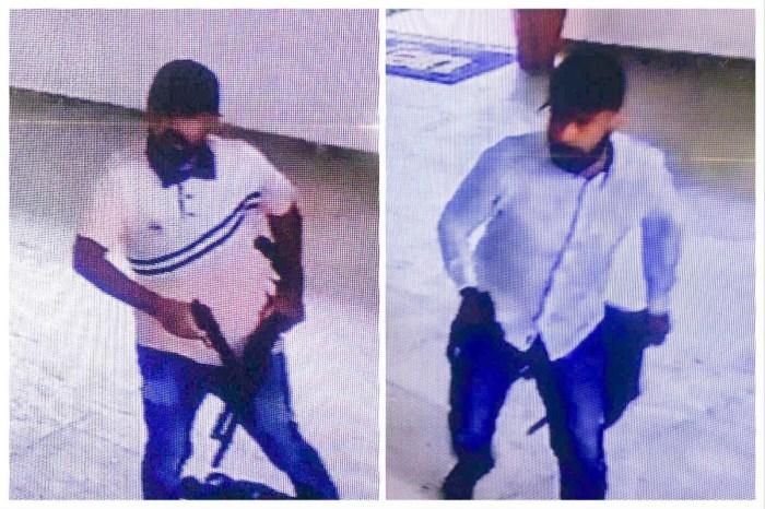 PM divulga imagens de suspeitos em assalto na UEPB