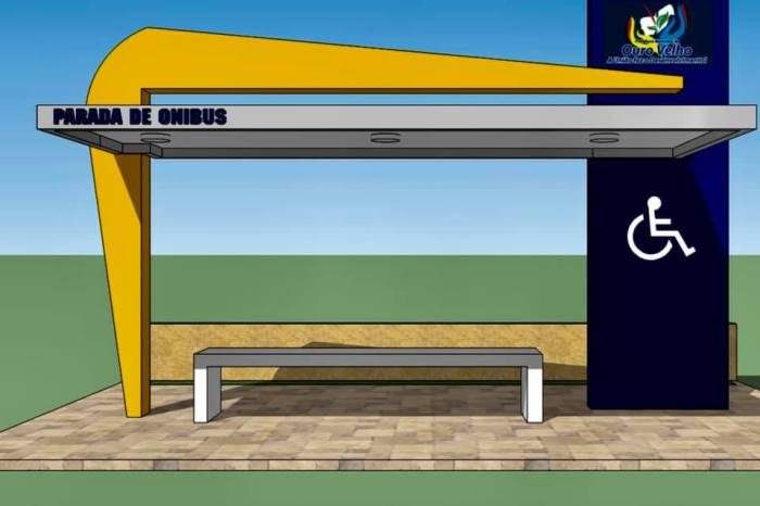 Com recursos próprios, prefeita Natália autoriza construção de parada de ônibus