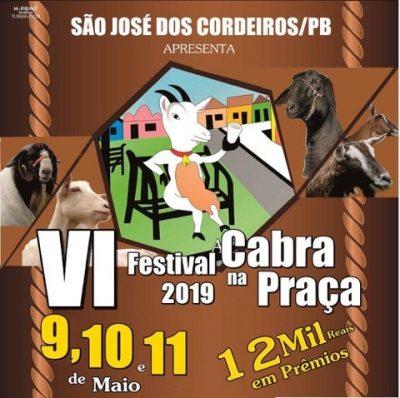 Começa em São José dos Cordeiros, a 6ª edição do Festival Cabra; evento segue até o sábado
