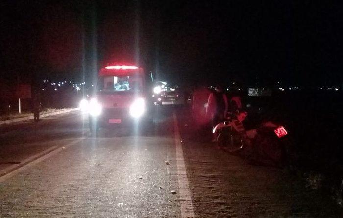 Acidente deixa duas pessoas feridas na cidade de Monteiro