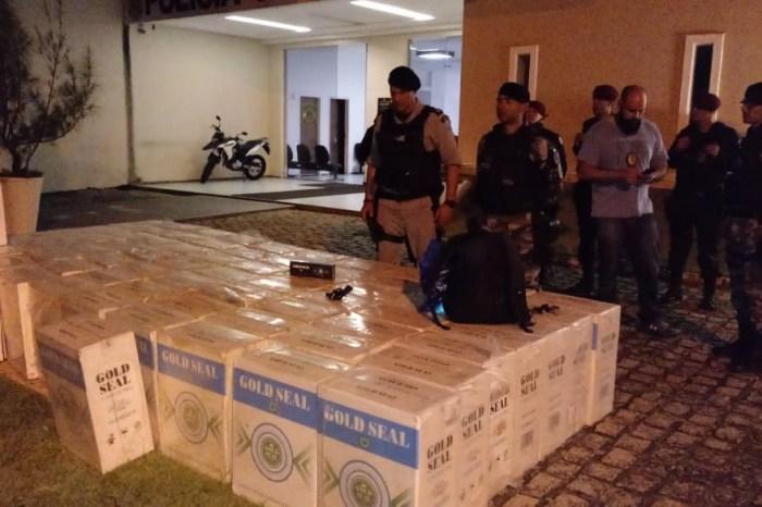 Polícia desarticula esconderijo e apreende toneladas de cigarros