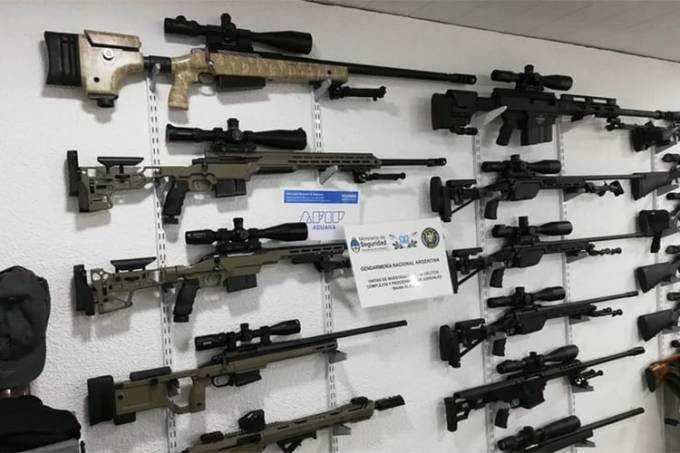 Polícia argentina apreenda armas que seriam enviadas ao Brasil