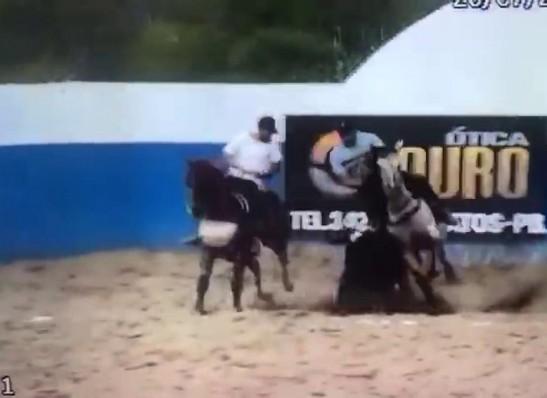 Empresário morre após cair de cavalo durante vaquejada, na PB