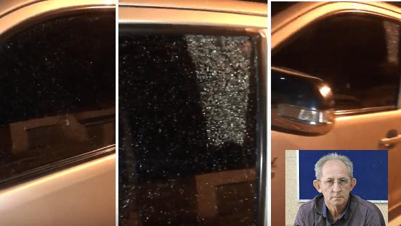Atentado: Carro de vereador é atingido por disparo enquanto ele seguia para Câmara no Cariri
