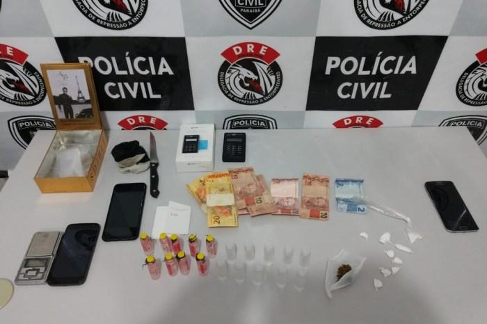 Grupo é preso suspeito de vender drogas em casa de shows, em CG