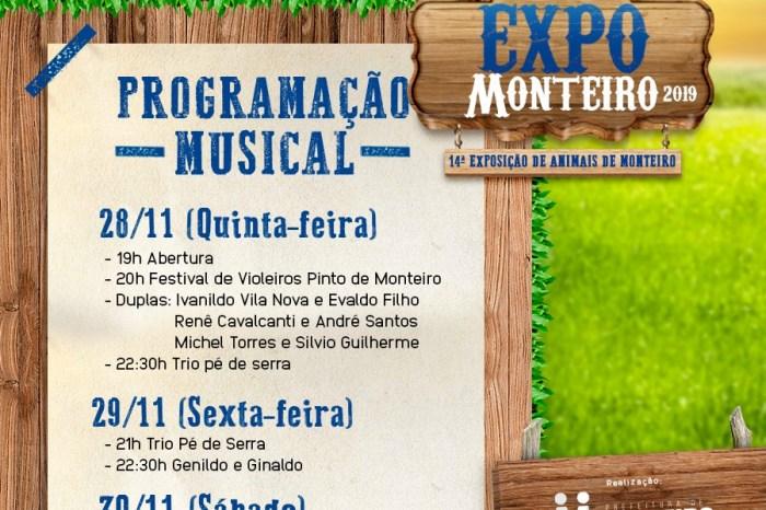 Festival de Violeiros Pinto de Monteiro é atração da primeira noite da Expo Monteiro