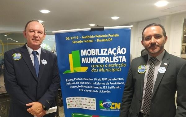 Prefeitos do Cariri participam de mobilização em Brasília contra a extinção de municípios