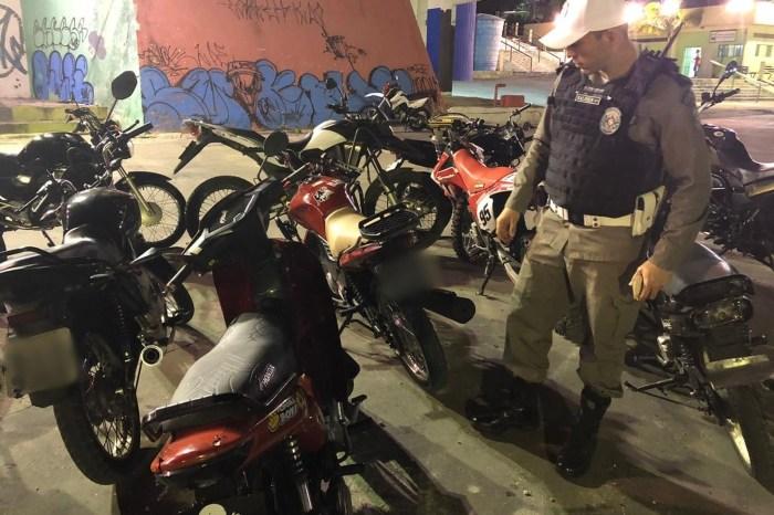 Operação apreende mais de 30 motos no 'rolezinho'