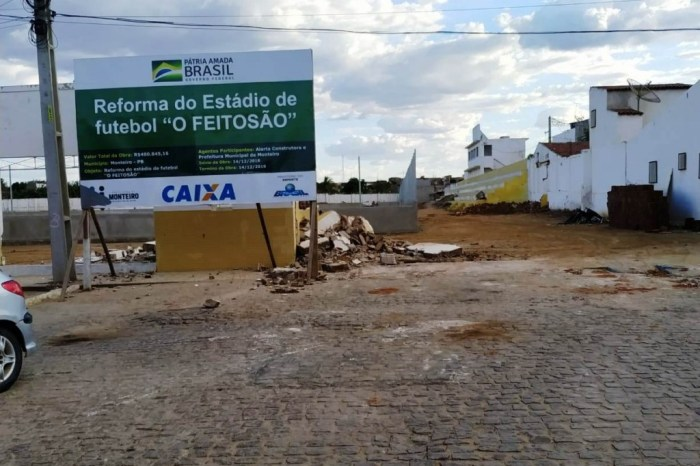 Estádio Feitosão já ganha forma para receber Campenato Ruralzão de Monteiro