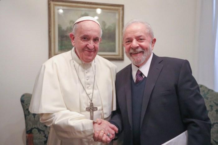 Papa Francisco se encontra com Lula no Vaticano